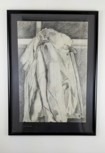 """Old Leather Jacket"" (Comes in a frame) Pencil on paper; 29in x 21in x 1.5in; Year 1986; Suggested donation is $400"