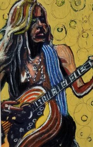 """Rock Musician"" ( Contrast to Background); (DETAIL)"
